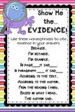 Show Me the Evidence Anchor Chart