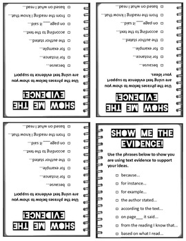 Show Me the Evidence Checklists