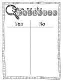 Show Me the Evidence - Evidence Sort T Chart for Close Reading