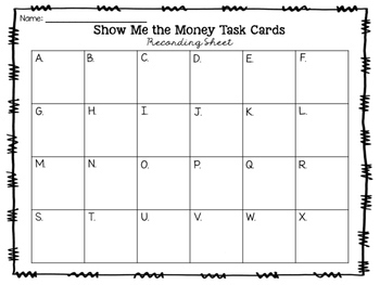 Show Me the Money Task Cards {Digital}
