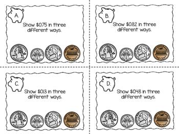 Show Me the Money Task Cards {Paper + Digital}