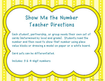 Show Me the Number - Creating Place Value Models for 3 & 4-digit Numbers