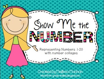 Number Collages to represent #1-20