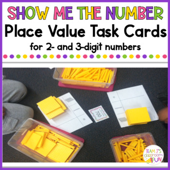 Show Me the Number - Practice with Place Value - 2 and 3-digit numbers