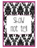 Show Not Tell Anchor Chart