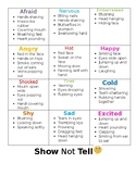 Show Not Tell Descriptive Words While Writing!