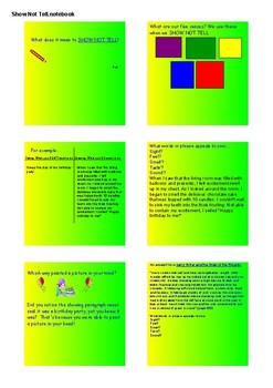 Show Not Tell/Descriptive Writing SMART NOTEBOOK Activities