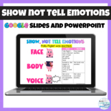 Show Not Tell Emotions Lesson and Practice