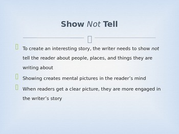 Show Not Tell PowerPoint Mini Lesson