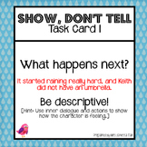 Show Not Tell Task Card