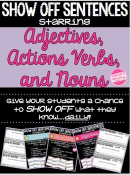 Grammar Daily Exit Slips, Warm Ups, & Assessments: Adj, Ac