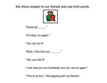 Show Respect when Playing Games - Autism VISUAL