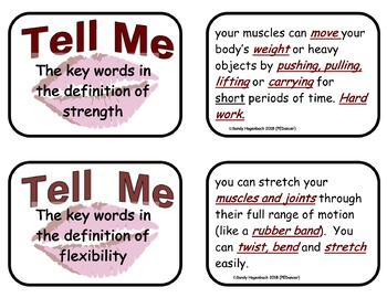 Show & Tell Fitness review cards