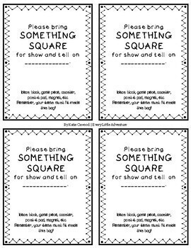 Show & Tell Paper Sack Notes -