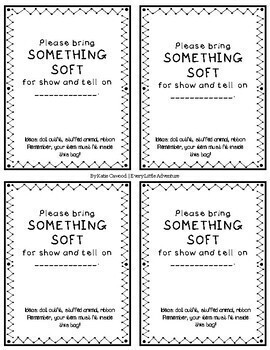 Show & Tell Paper Sack Notes