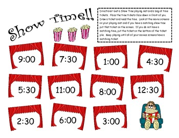 Show Time! Telling TIme to the Hour and Half Hour