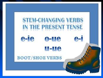 Show Verbs_Stem changing verbs part 1