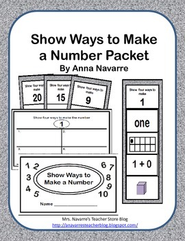 Show Ways to Make a Number