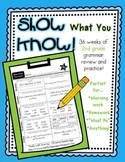 """Show What You Know!"" 36 2nd Grade Weekly Grammar Practice Pages"