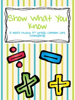 Show What You Know - A Cumulative Review