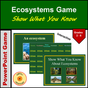 Show What You Know About Ecosystems Game