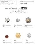 Show What You Know About MONEY - unit test assessment