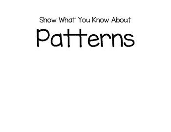 Show What You Know About Patterns