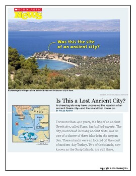 "Show What You Know About TEXT FEATURES ""Is This a Lost Ancient City?"""