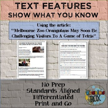 "Show What You Know About TEXT FEATURES ""Zoo Tetris"""