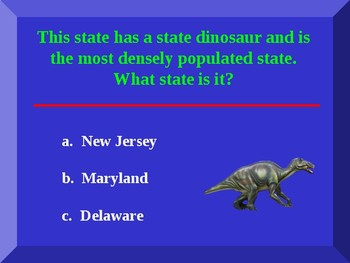 Show What You Know About the States Power Point Game