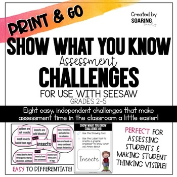 Show What You Know Assessment Challenges | For Use with Seesaw