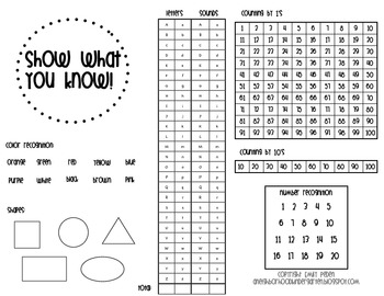 Show What You Know Basic Assessment for Literacy and Math