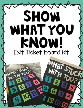 Show What You Know Board