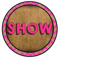 Show What You Know Board (Burlap Brights)