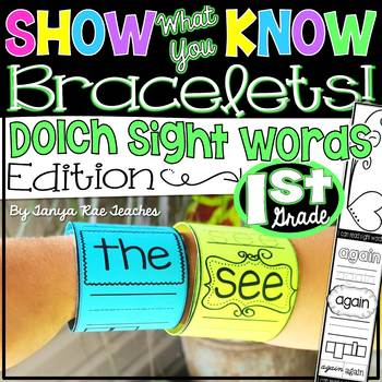 Show What You Know Bracelets! First Grade Dolch Sight Words Edition
