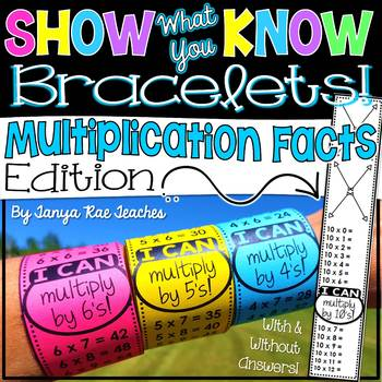Show What You Know Bracelets! Multiplication Facts Edition