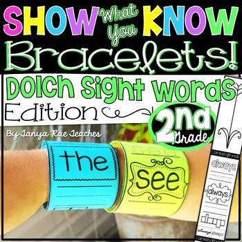 Show What You Know Bracelets! Second Grade Dolch Sight Words Edition