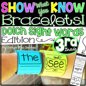 Show What You Know Bracelets! Third Grade Dolch Sight Words Edition
