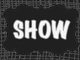 Show What You Know Bulletin Board Set Black & White Safari Jungle