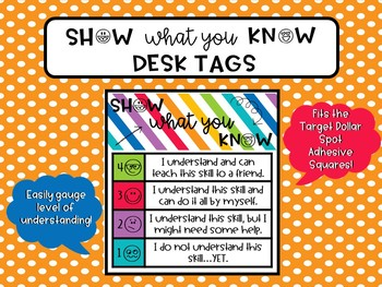 Show What You Know Desk Tags