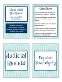 Show What You Know! EOC Government Review Game (2 Deck Versio)
