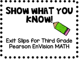 Show What You Know! EnVision MATH Third Grade