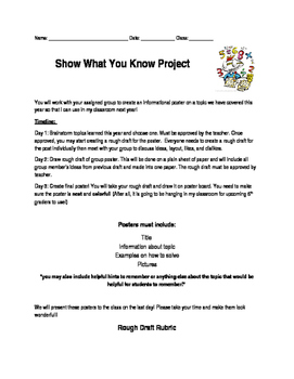 Show What You Know End of Year Project