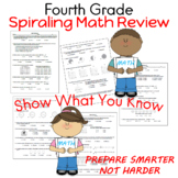 Show What You Know Fourth Grade Spiraling Math Review (18 pages)