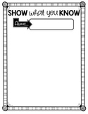 Show What You Know!! {Freebie}