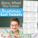 Grammar Exit Tickets