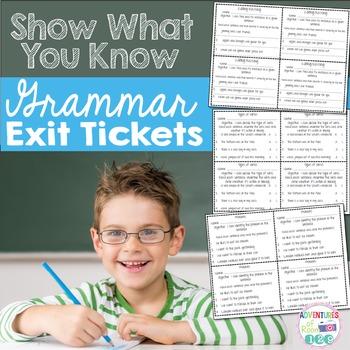 Grammar Exit Tickets