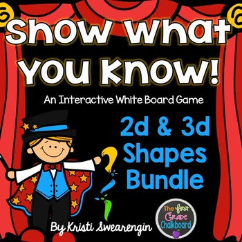 Interactive Whiteboard Game:2d & 3d Shapes Bundle