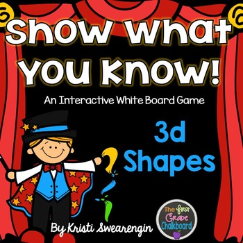 Interactive Whiteboard Game: 3d Shapes