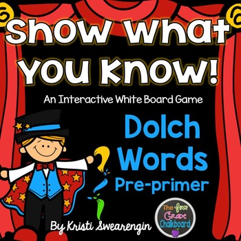 Interactive Whiteboard Game:Dolch Pre-primer Words